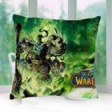 Warcraft魔兽世界游戏电影周边抱枕套汽车靠垫腰靠枕芯来图定制 魔兽世界抱枕