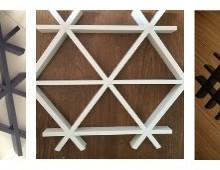 欧佰铝格栅生产厂家 三角型铝格栅现货直供 铝格栅吊顶效果图图片