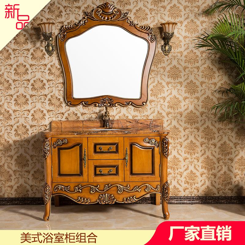 欧式大理石台面浴室柜图片|欧式大理石台面浴室柜