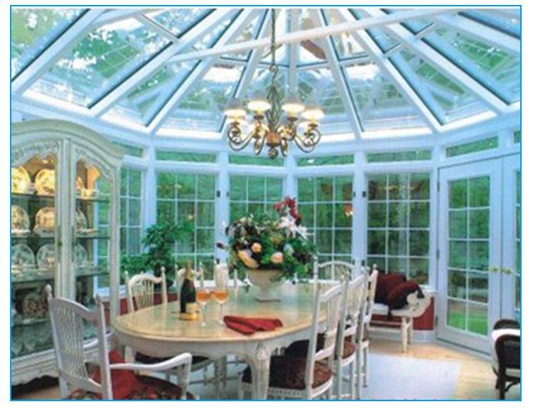 阳光房钢结构设计图展示