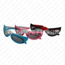 被动式影院3D眼镜被动式儿童3D眼镜圆偏光3D眼镜批发