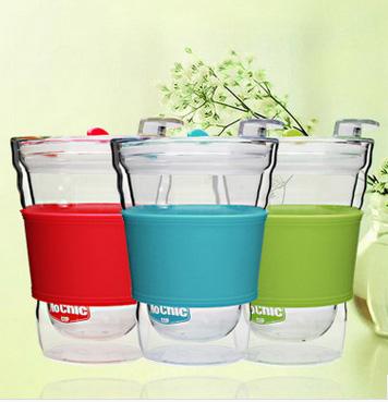 双层玻璃杯咖啡杯随手杯外贸透明玻璃水杯定制批发MoChic创意杯子双层玻璃杯