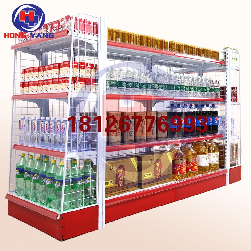 广州背网超市货架厂家直销便利店零食背网货架药店货架母婴货架