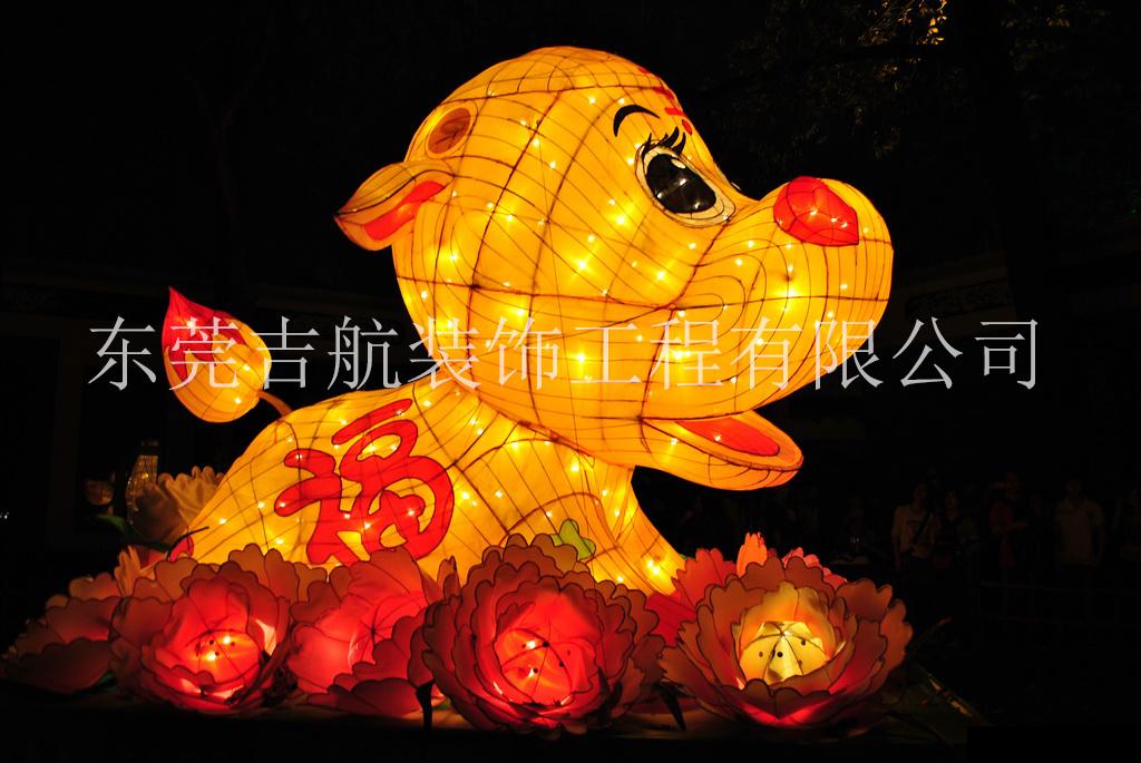 深圳节庆花灯定制 大型动物花灯厂家 十二生肖花灯制作 动物节庆花