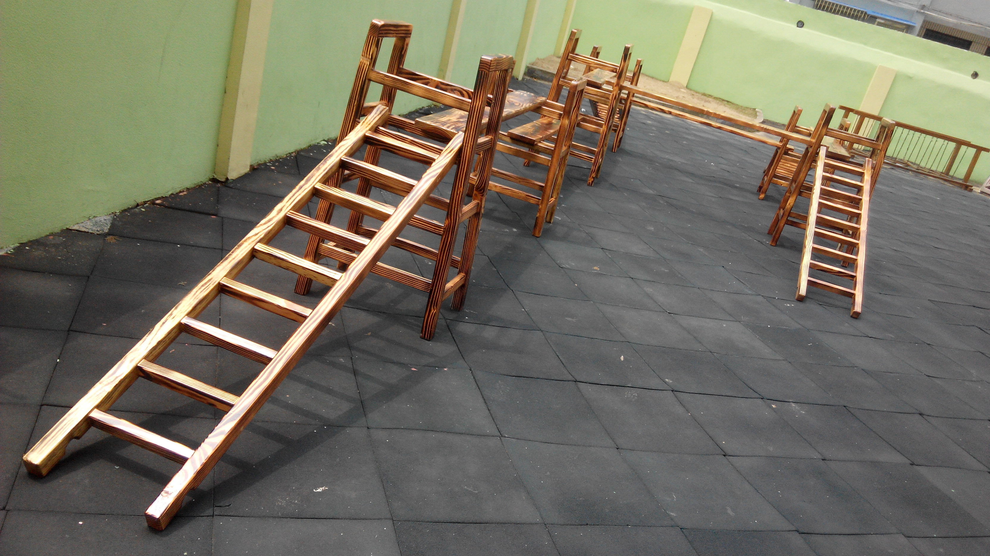 幼儿园组合攀爬梯/幼儿园户外积木