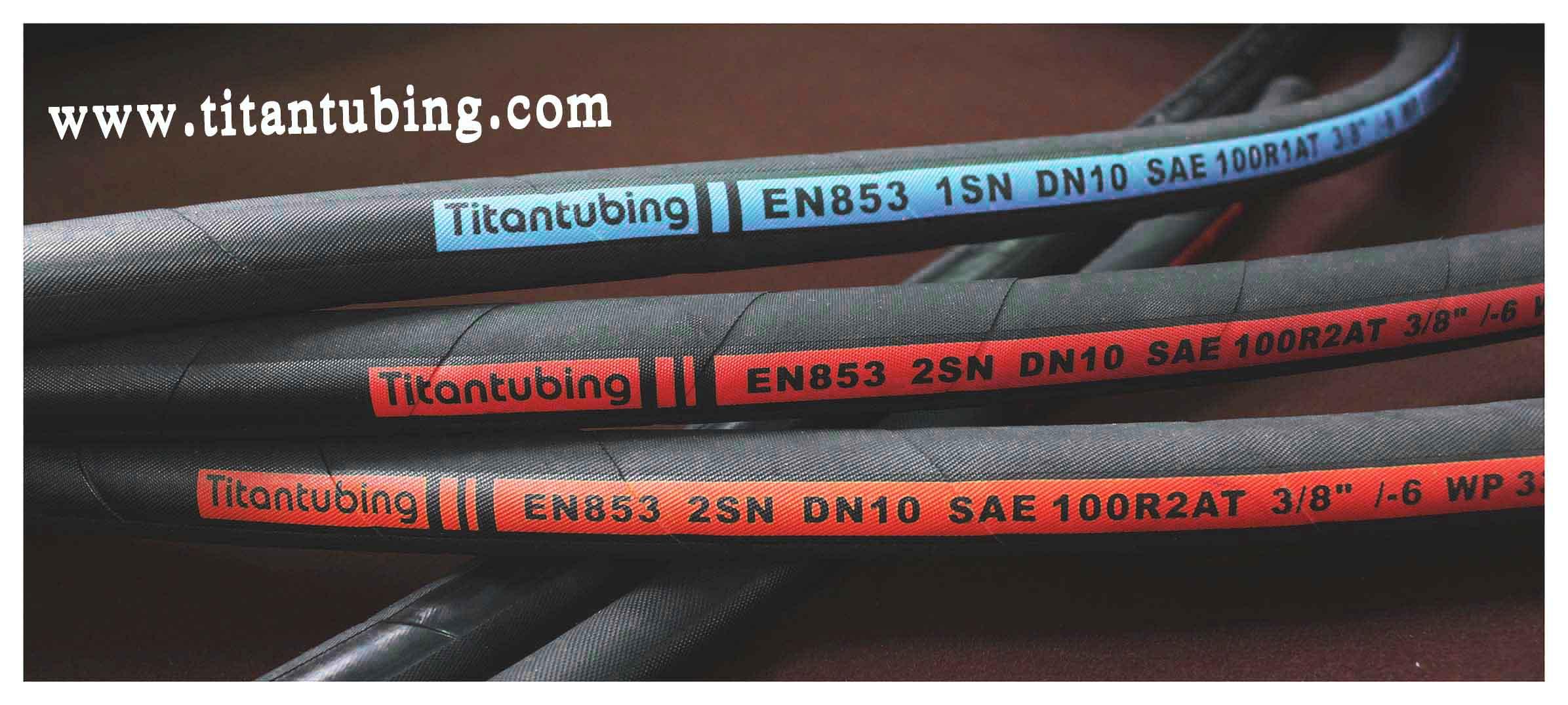 液压胶管 钢丝缠绕管 EN853 1SN/SAE100 燃油管 空气管 橡胶钢丝管  途奔液压多用途管