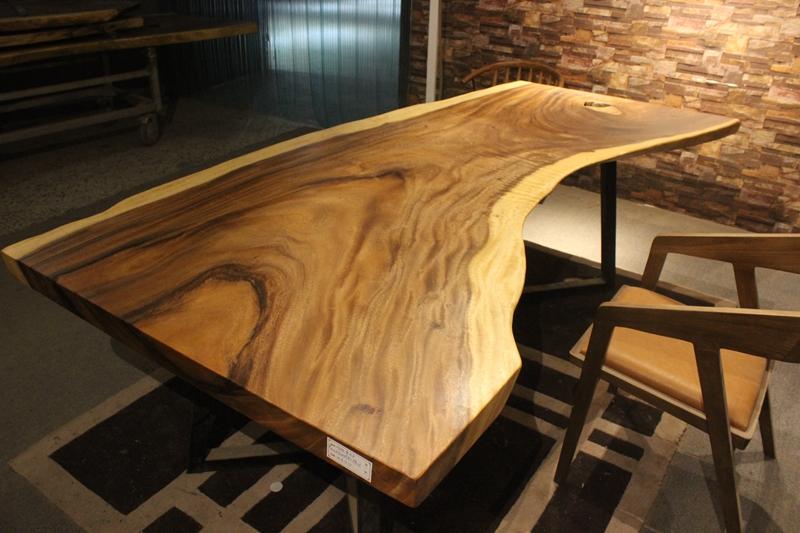 胡桃木烘干实木大板现代简约生态美式 南美花梨家装设计师桌家