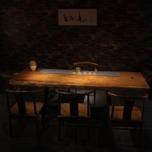 现代简约设实木大板桌图片