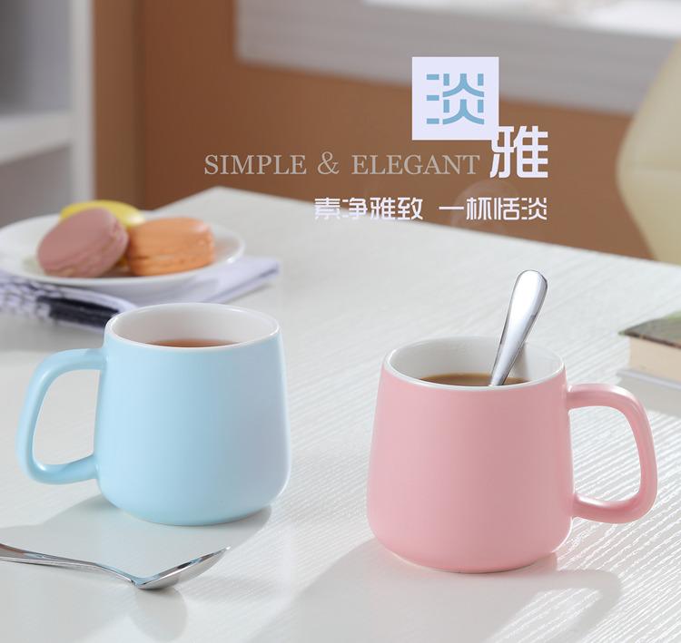 简约陶瓷色釉马克杯 情侣杯 广告杯定制 牛奶咖啡杯  简约陶瓷色釉马克杯情侣杯