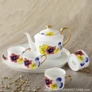 欧式骨瓷茶具6头骨瓷咖啡壶图片