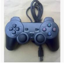 厂家直销电脑PC机CF实况足球拳皇单打单振动游戏手柄PS2外型USB手柄游戏手柄批发