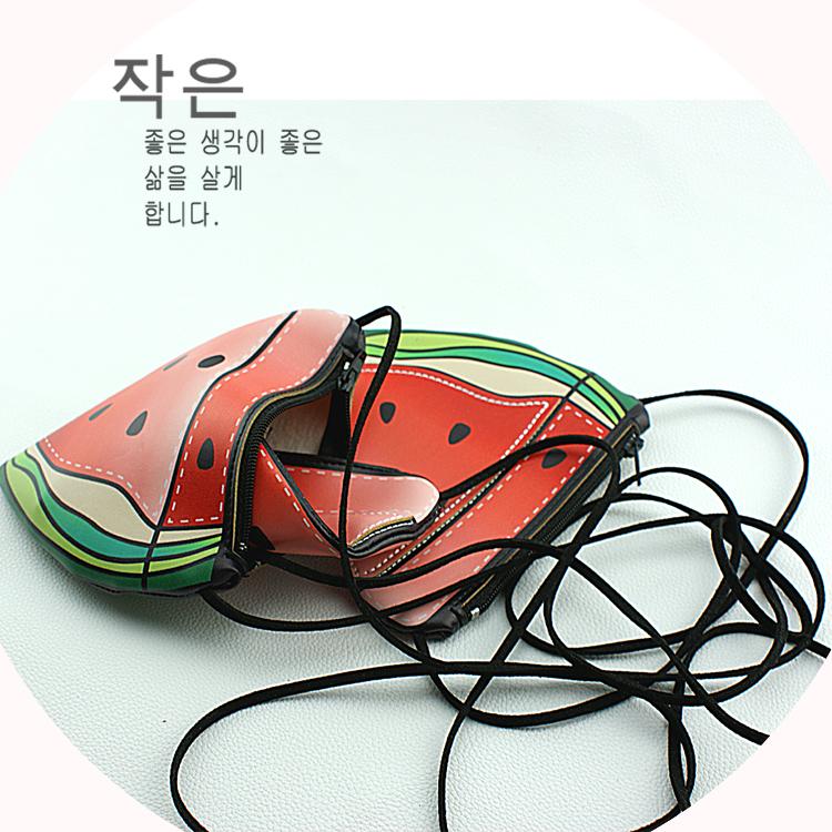 创意水果包韩版风范零钱包小皮包