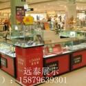香港钢化玻璃红色烤漆珠宝柜图片