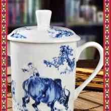 精致礼品杯陶瓷办公杯定做高档手绘茶杯景德镇茶杯批发批发