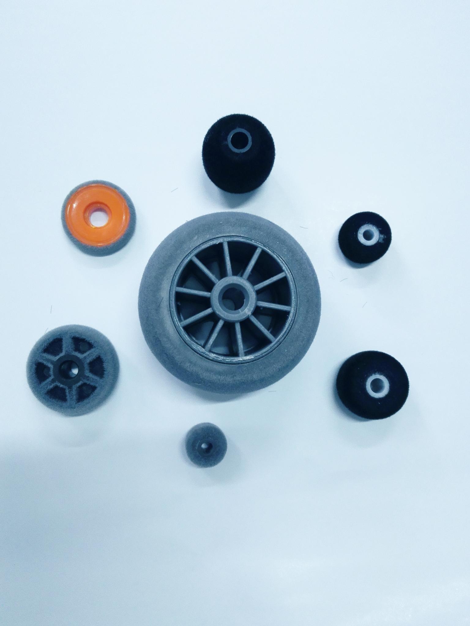 江苏苏州轮子植绒厂家 扫地机器人轮子植绒加工定制