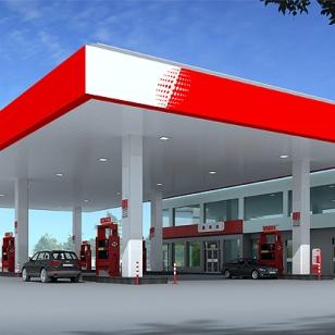 现货供应加油站包柱铝圆角图片