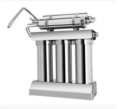 市政自来水自来水过滤高能量磁化水不锈钢超滤净水器批发家用过滤机10寸平口过滤高能量磁化水不锈钢超滤