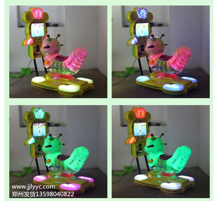 濮阳童装店投币摇摇车,新款3D带游戏小马儿童投硬币摇摇机