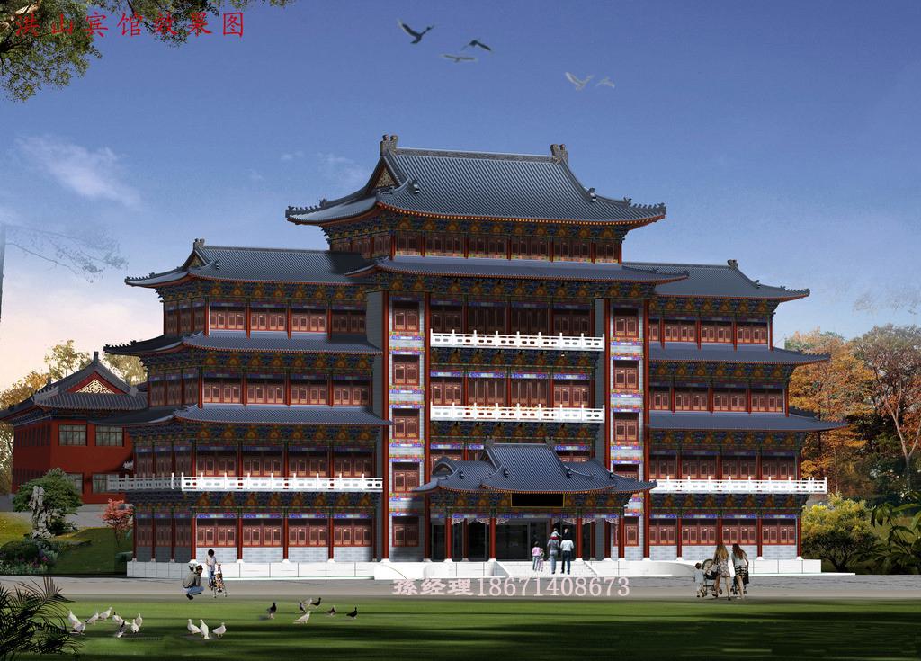 古建筑设计 寺院规划设计