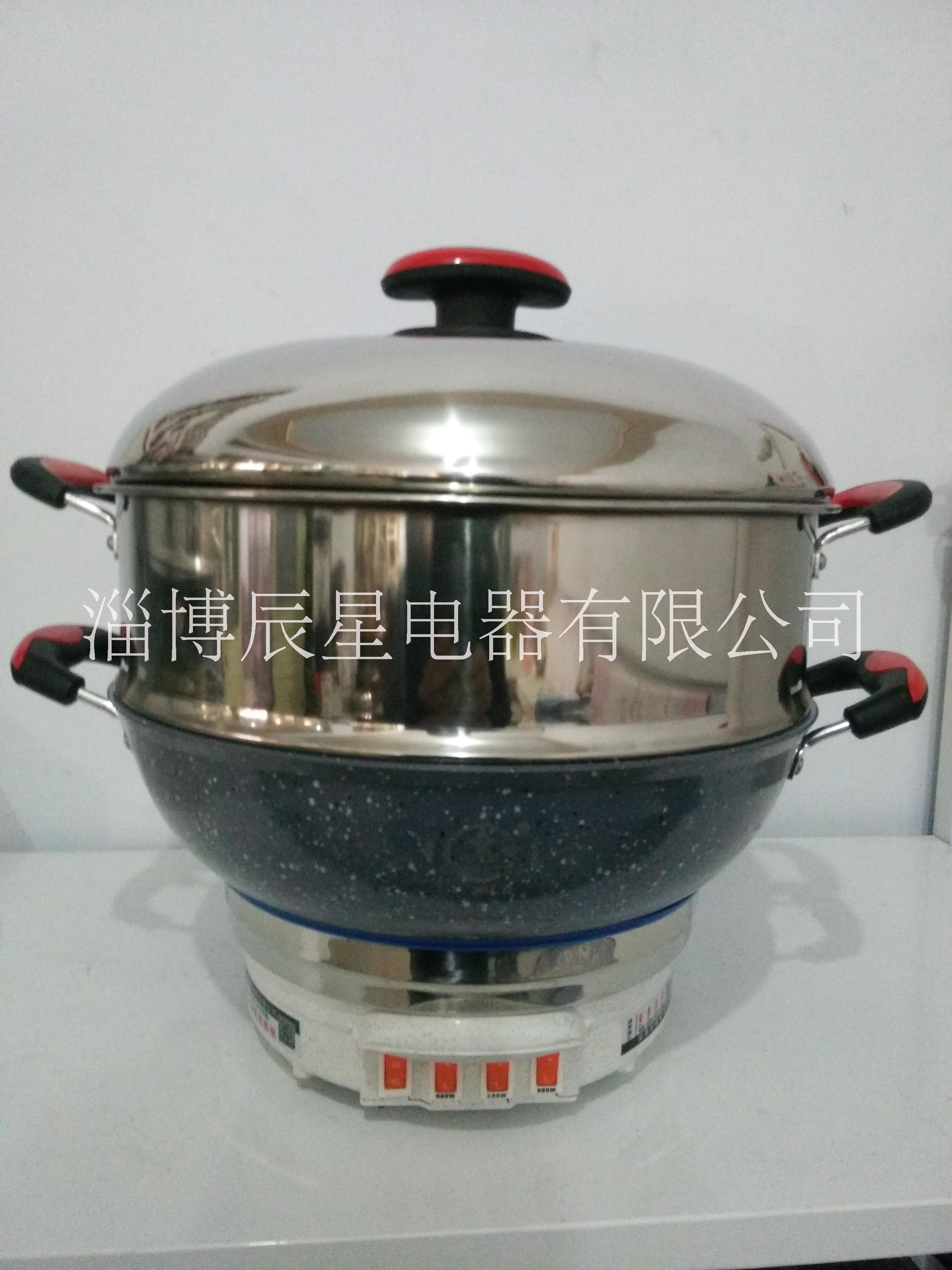 电热锅(麦饭石)养生电热锅材质超硬不沾锅厂家直销
