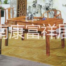 中式古典实木茶桌四抽多功能茶餐桌厂家价格