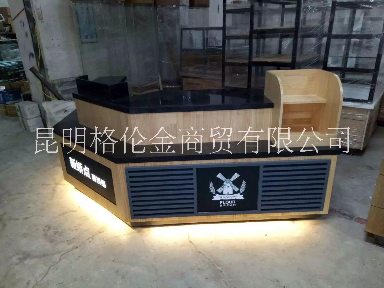 供应展示柜-收银台 定做烤漆柜台 批发木质收银柜前台 前台展示架