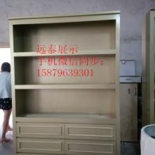 银色带金粉服装店面展示背柜展示柜图片