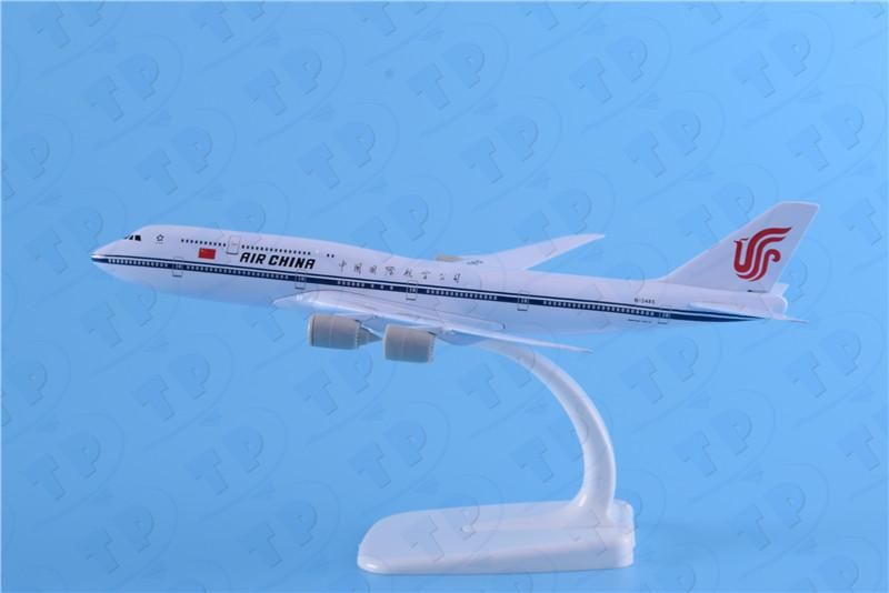 金属飞机模型波音747-8国航