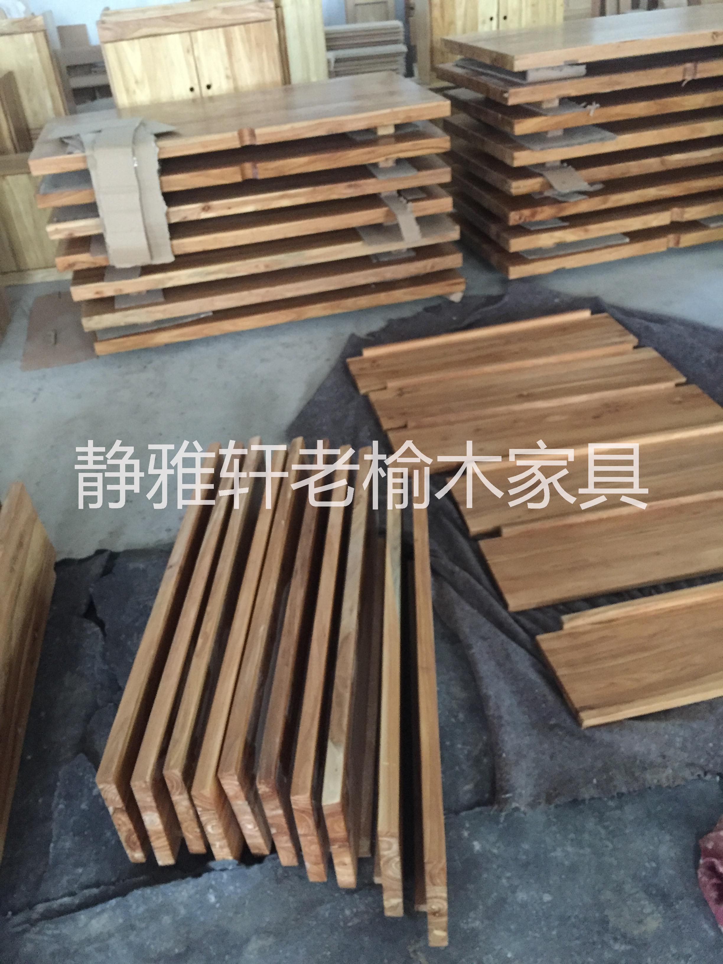 原木木板材复古老榆木桌面实木板吧台工作台装饰板材