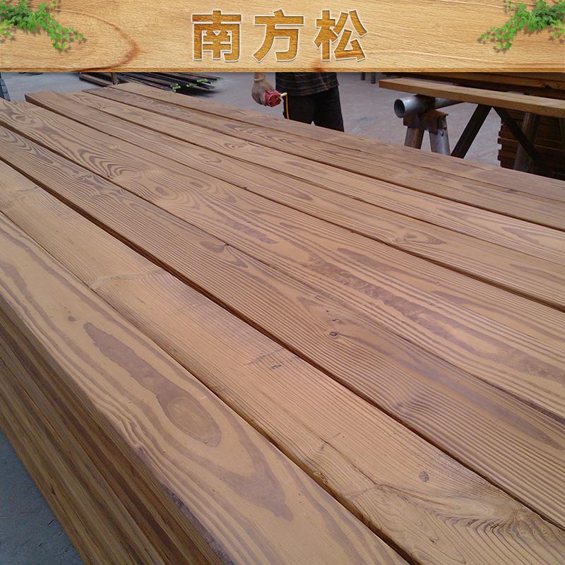 南方松出售 美国南方松防腐木 定做加工木方 南方松木方地板料图片