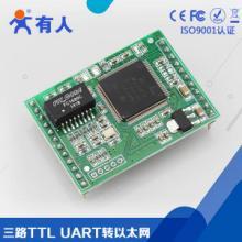 网口转TTL电平模块WEB配置兼容周立功USR-TCP232TTL转RJ45,ttl转网络模批发