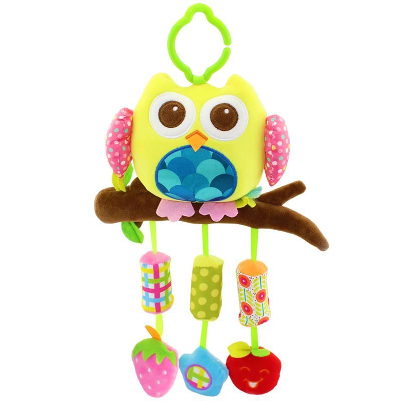 婴幼儿风铃猫头鹰玩具挂件儿童益智