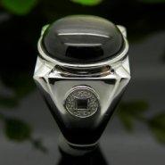 宝石镶嵌珠宝高端定制925银空托图片
