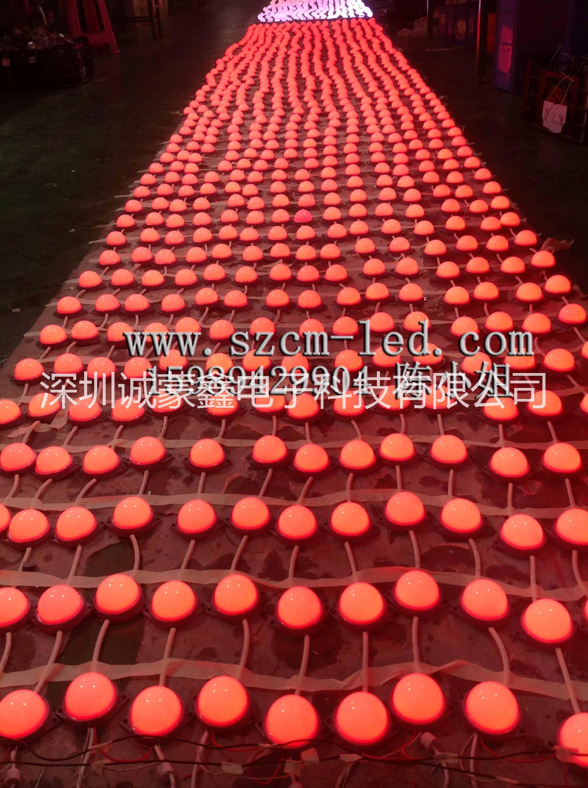 深圳厂家生产供应LED全灌胶防水点光源 LED七彩点光源