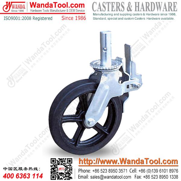 10寸脚手架脚轮,铁芯橡胶脚手架脚轮,脚手架脚轮厂家