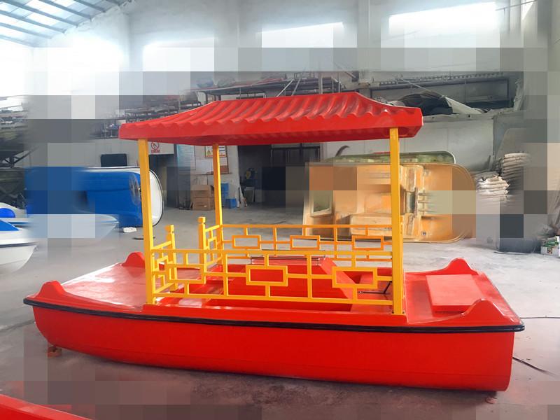 供应仿古脚踏船 4人脚踏游船 园区景点游乐设备 稳定耐用脚踏船