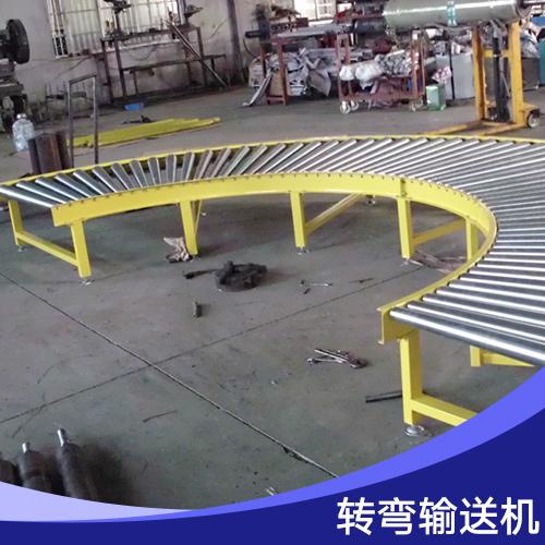 广州兴顺联转弯输送机 滚筒式物品传送不锈钢转弯食品输送设备