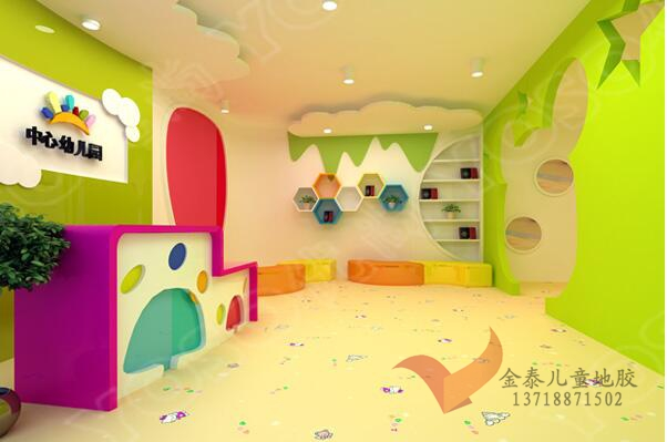 幼儿园塑胶地板批发 幼儿园地胶