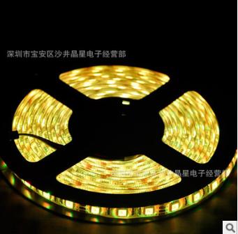 厂家直销5050低压单色光冷白红光 60灯条防水LED七彩软灯带双面板现货批发