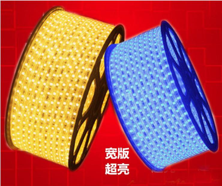 西藏LED双排灯带内蒙古现货特价 60珠120灯单排 180灯双排12V/220V 2835贴片l