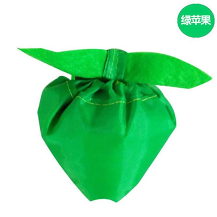 厂家定做涤纶折叠购物袋 190T苹果造型背心袋 可加印logo