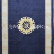 手工剪花中式地毯图片