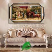 亿丝伊朗进口风景人物羊毛挂毯图片
