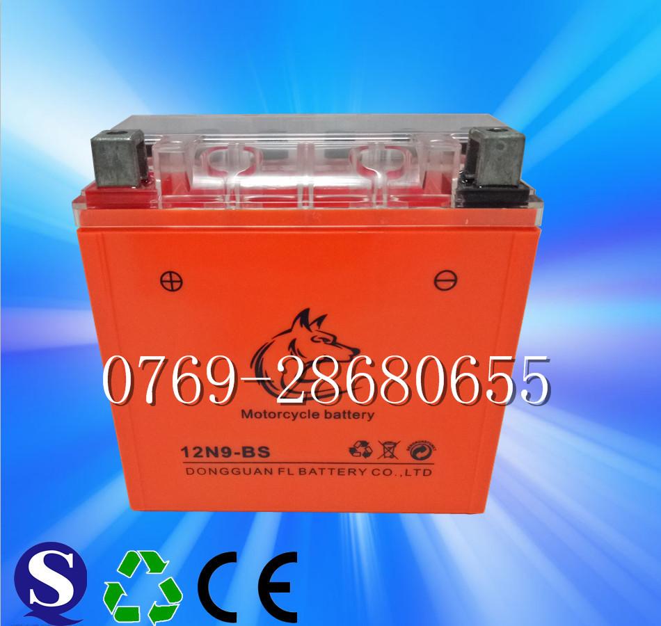 供应12N9摩托车电池12v 9ah摩托车起动电池
