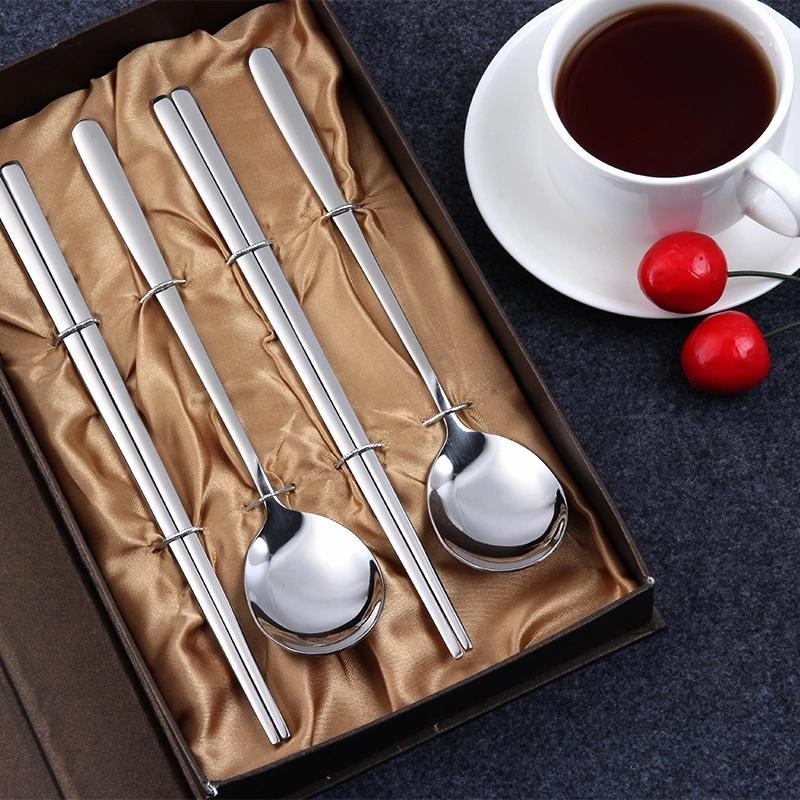 韩式勺筷四件套礼盒装婚庆赠品韩国 精品礼盒四件套