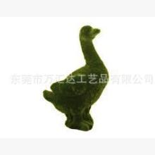 厂家直销Garden系列产品之人造草鸟类动物公仔高压静电植绒植毛摆饰装饰品
