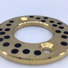 嘉善无油轴承:JTW铜基镶嵌式固体润滑止推垫片图片