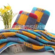 色织股纱毛巾图片