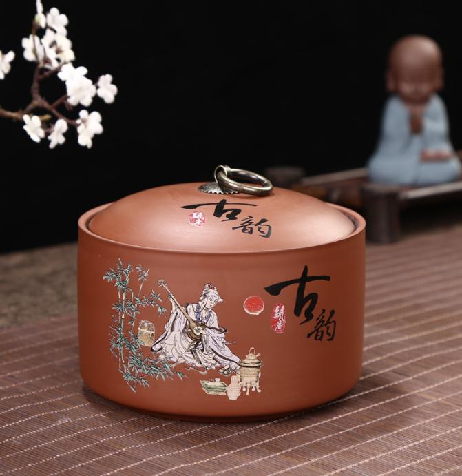 紫砂茶叶罐陶瓷茶碗茶具套装高档礼