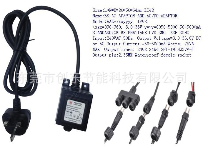东莞厂家直销国外 BS英规户外 36W防水变压器草坪灯